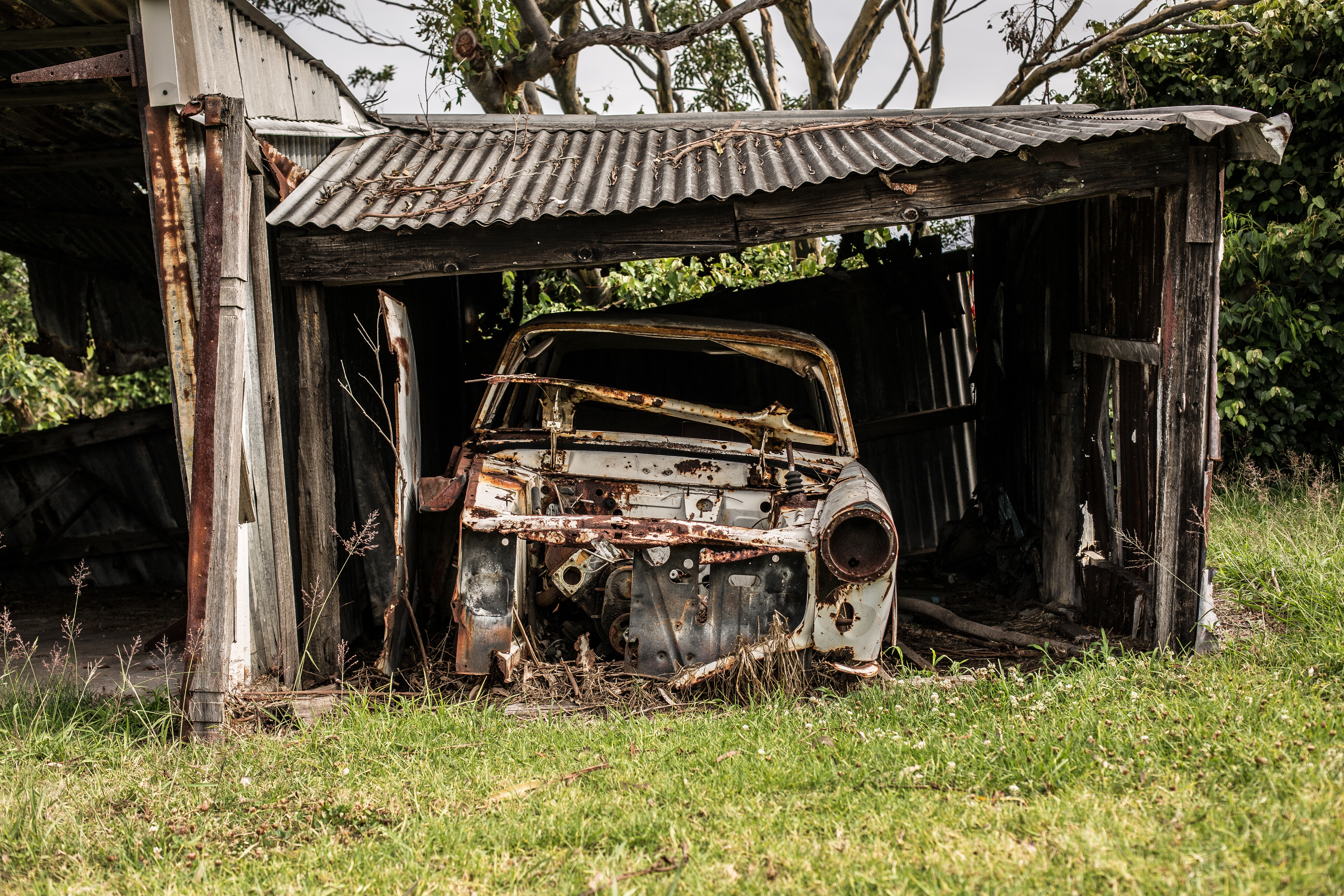 old-car-in-garage-in-newcastle-new-south-wales-australia -